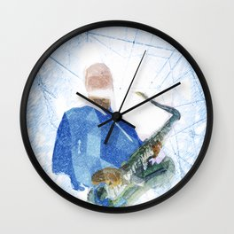 Live Music Poster Wall Clock