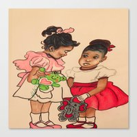 chile Canvas Prints featuring Chile Boo by YMVA, LLC