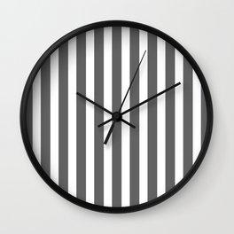 bold dark grey bars pattern Wall Clock