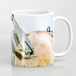 Open Canopy Of A Modern Attack Helicopter Cockpit Coffee Mug