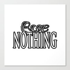 Rue Nothing White and Black Logo Canvas Print