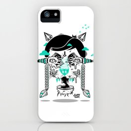 evilcat by s-fly iPhone Case