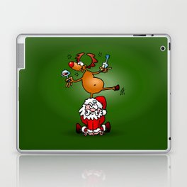 Reindeer is having a drink on Santa Claus Laptop & iPad Skin