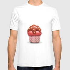Cake MEDIUM Mens Fitted Tee White