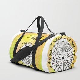Watercolor Dandelion - Make a wish Duffle Bag