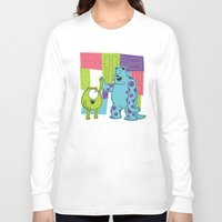 monster inc Long Sleeve T-shirts featuring Monster Time by Moysche Designs