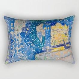 Venice Night of the Festival of the Redeemer Henri-Edmond Cross Neo-Impressionism Pointillism Rectangular Pillow