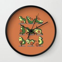 Avocado Yoga For A Flat Tummy Wall Clock