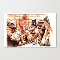 silent hill Canvas Prints featuring Silent Hill by Joseph Silver