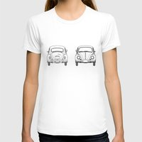 blueprint T-shirts featuring VW Beetle BluePrint by Barbo's Art