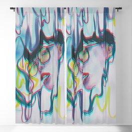 Bored blue Blackout Curtain