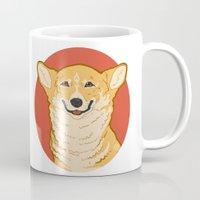 corgi Mugs featuring Corgi by Greving Art
