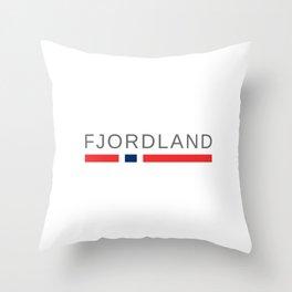 Fjordland Norway Throw Pillow