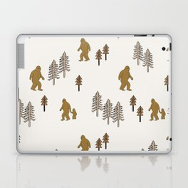Sasquatch forest woodland mythic animal nature pattern cute kids design forest Laptop & iPad Skin
