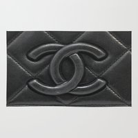 leather Area & Throw Rugs featuring Leather Logo  by Luxe Glam Decor