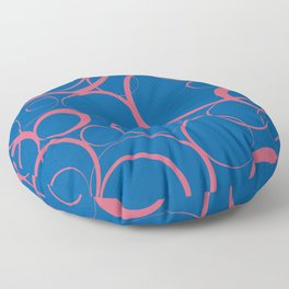 Ring Pattern V53 2021 Color of the Year Accents Fruit Dove 17-1926 Pink Skydiver 19-4151 Blue Floor Pillow