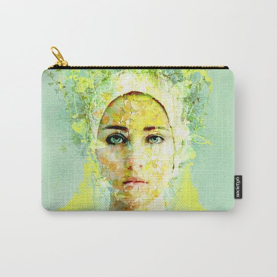 floral woman Carry-All Pouch