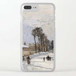 """Camille Pissarro """"Road to Versailles at Louveciennes""""(1869) Clear iPhone Case"""