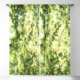 Bright Day-green leaves Blackout Curtain