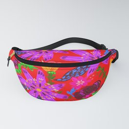 Orange Violets Fanny Pack