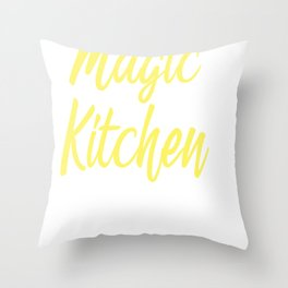 Chef Cook Cooking Utensils Magic in Kitchen Gift Throw Pillow