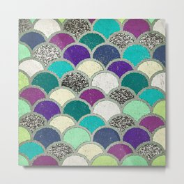 Mermaid Scales Metal Print