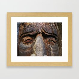 Wise men are made of wood Framed Art Print