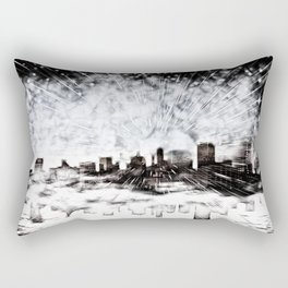 Feuerwerk über der Stadt Rectangular Pillow