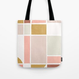 modern abstract shapes print Tote Bag