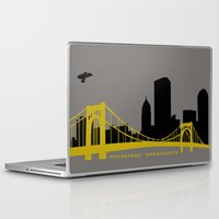 pittsburgh Laptop & iPad Skins featuring Pittsburgh Browncoats by Caroline Moore