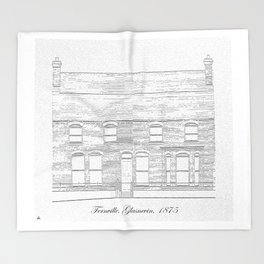 Fernville, Glasnevin, Dublin 1875 Throw Blanket