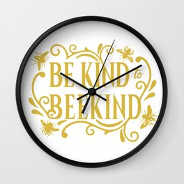 Be Kind to Beekind - Save the Bees Wall Clock