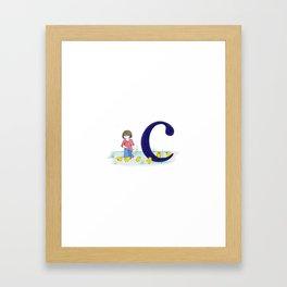 c is for chicks Framed Art Print
