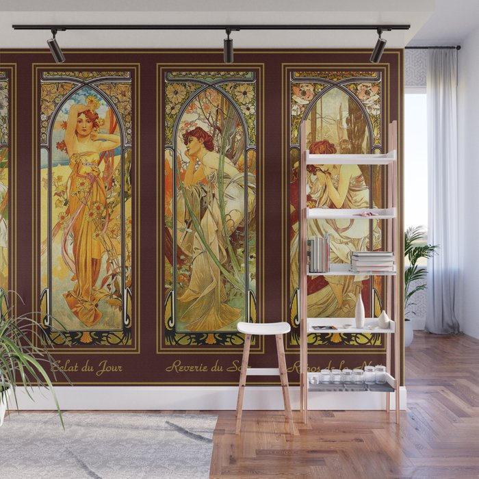 Vintage Art Nouveau - Alphonse Mucha Wall Mural by yesteryears ...