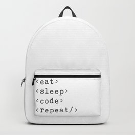 Eat, Sleep, Code, Repeat Backpack