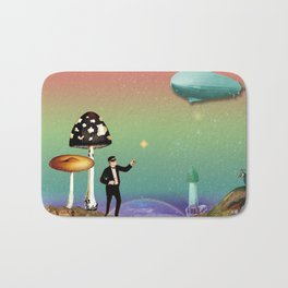 the magician in the land of mushrooms Bath Mat