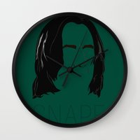 snape Wall Clocks featuring Snape and you by Ally Simmons