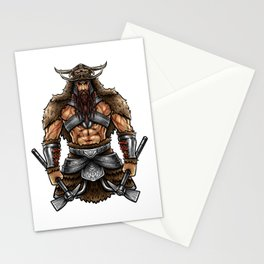 Norseman Berserker | Viking Warrior Valhalla Odin Stationery Cards