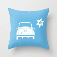 bmw Throw Pillows featuring BMW Isetta by Clemens Hellmund