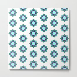 Mandala patern big white Metal Print