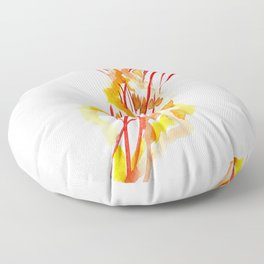 Jellyfish, Red, orange, Yellow design Floor Pillow
