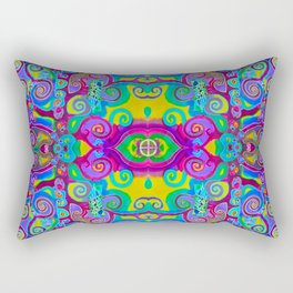 Klimt Tree of Life Mandala Rectangular Pillow