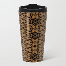 Black and Bronze Petals 2676 Metal Travel Mug