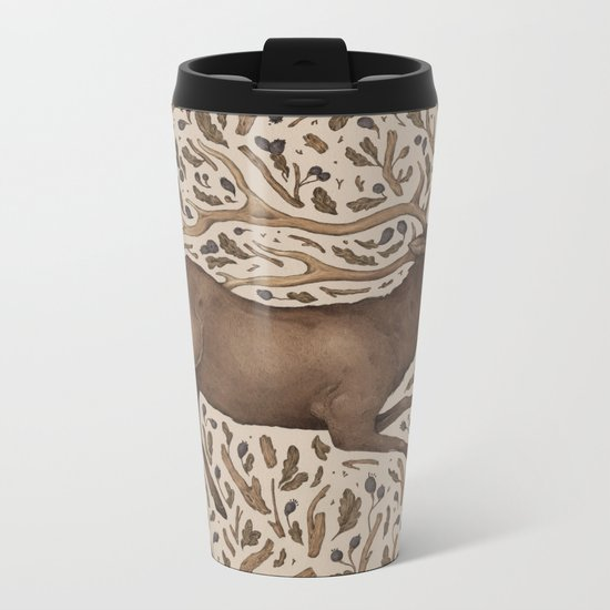 Elk in Nature Metal Travel Mug
