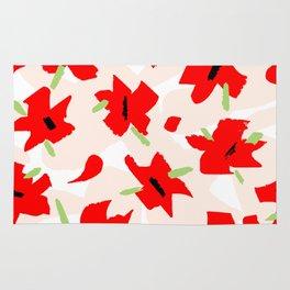Scarlet Floral Rug