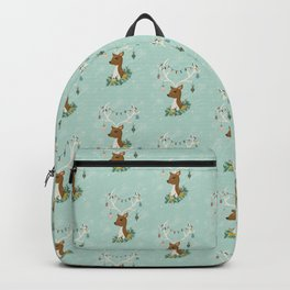 Vintage Inspired Deer with Decorations Backpack