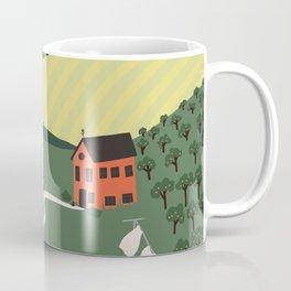 Idyllic Orchard Landscape Coffee Mug