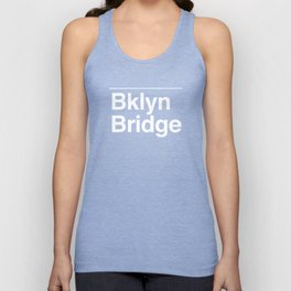 Brooklyn Bridge MTA Sign Unisex Tank Top