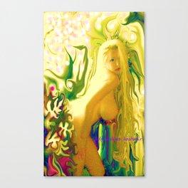 sexy blond Nude ladygodiva ladykashmir  Canvas Print