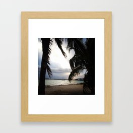 Sailboat off the Beach Framed Art Print